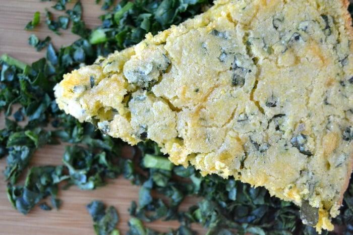 Cheddar Kale Skillet Cornbread 3