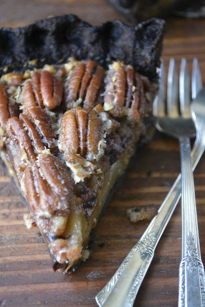 Black Bottom Bourbon Pecan Pie