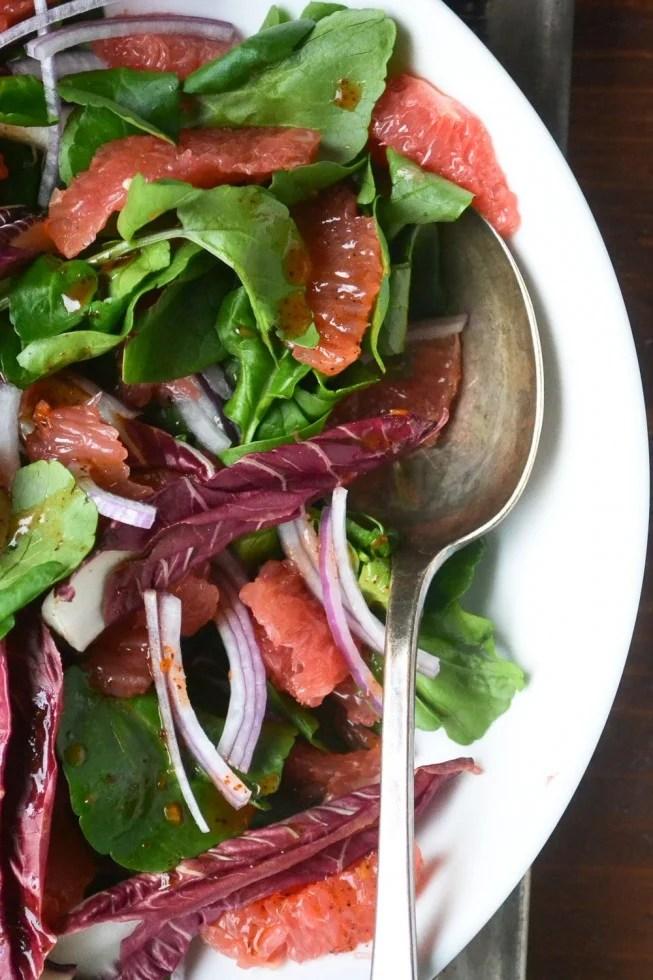 grapefruit, watercress and sumac salad