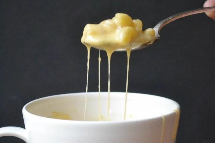 instant mac cheese in a mug