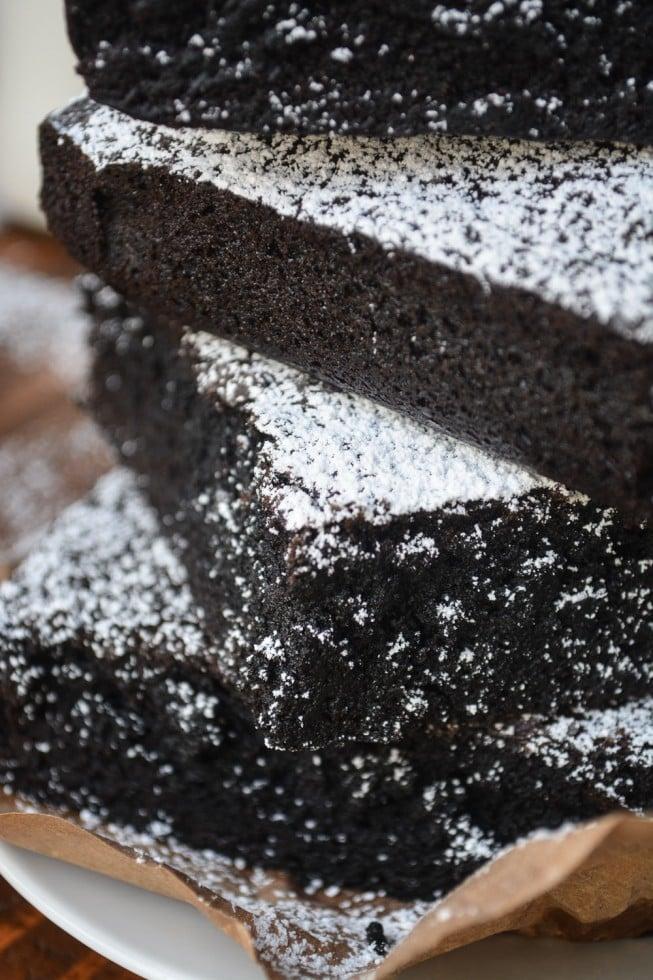 Big extra dark chocolate brownies