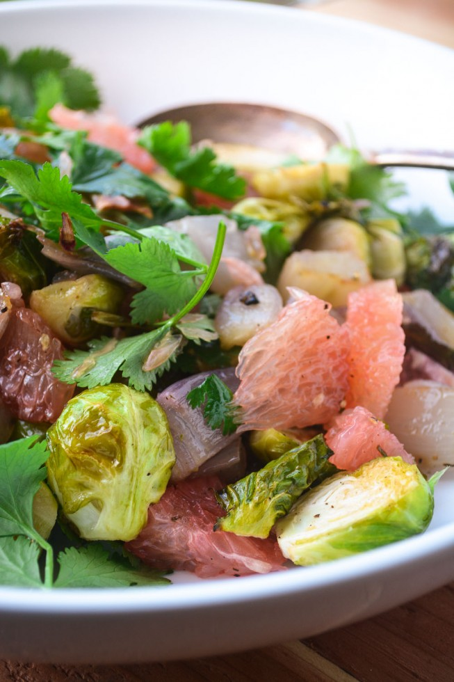 Brussels Sprout and Pomelo Salad