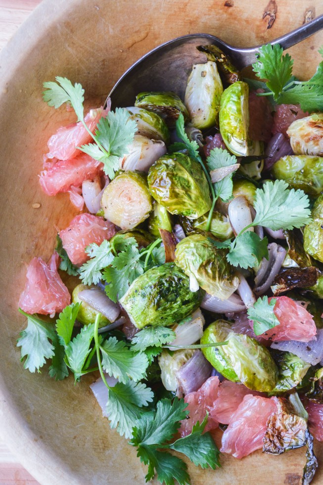 Ottolenghi recipe: Roasted Brussels Sprouts with Pomelo and Star Anise Salad