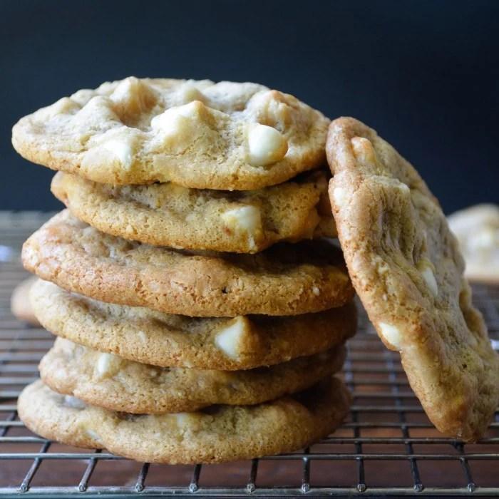 Gluten free white chocolate chip macadamia cookies