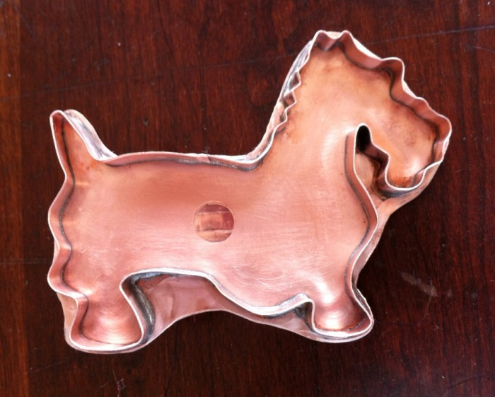 scottie dog copper cookie cutter