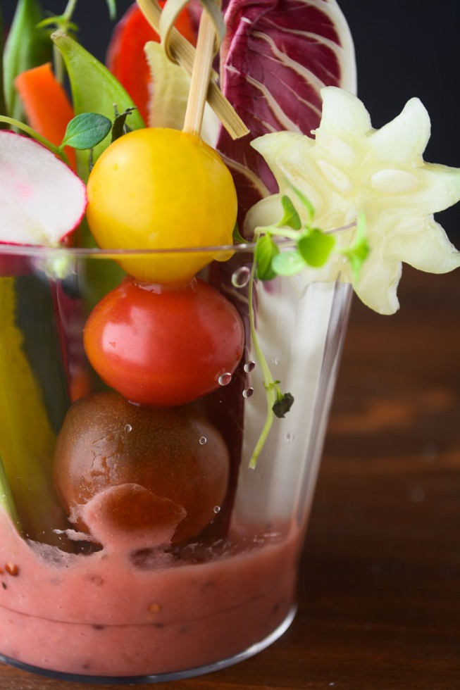 finger salad cups are easy to assemble