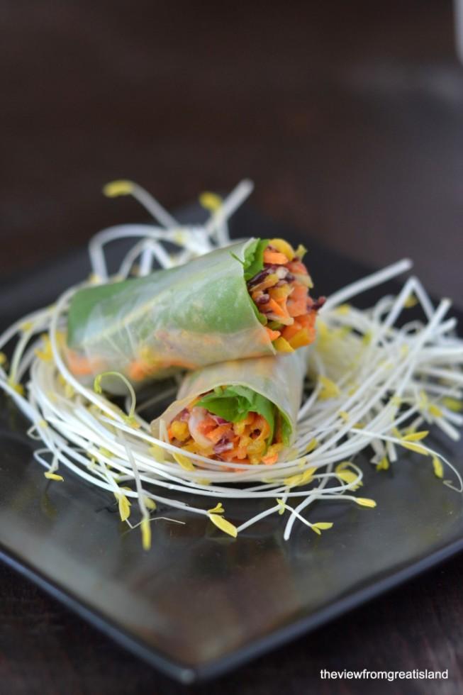 asian slaw summer rolls