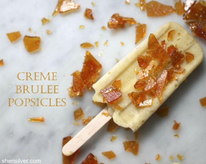 creme brulee popsicles