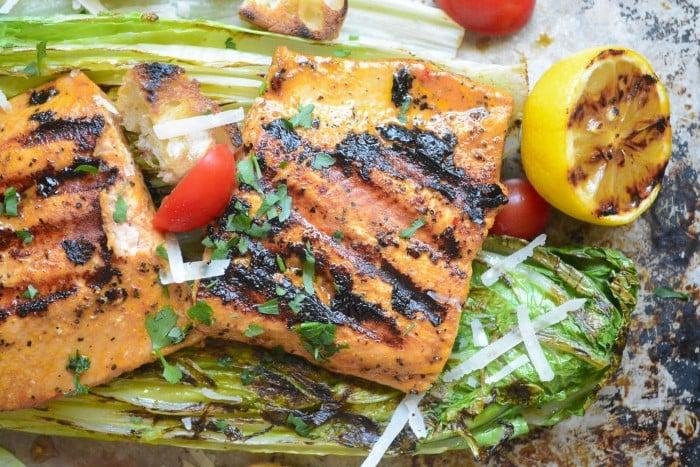 Grilled Wild Salmon Salad