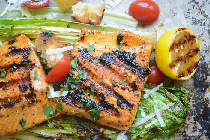 Grilled wild Salmon Salad