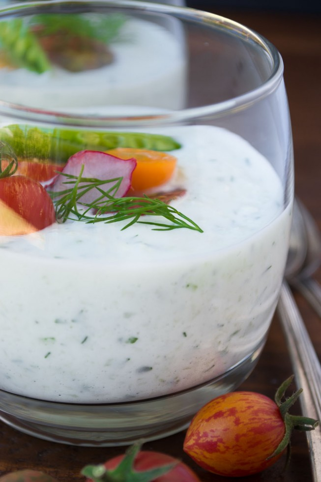Icy cold and refreshing Cucumber Yogurt Soup