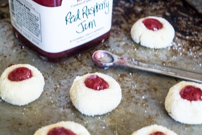 Reader's Recipes: Bite sized jam thumbprint cookies