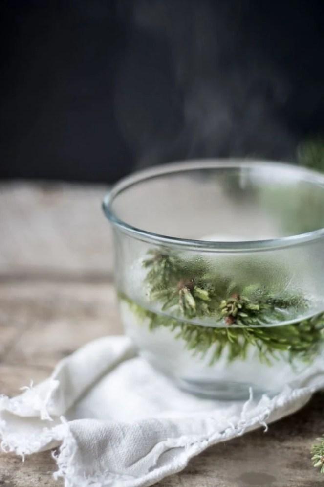 Healing Conifer Tea ~ theviewfromgreatisland.com