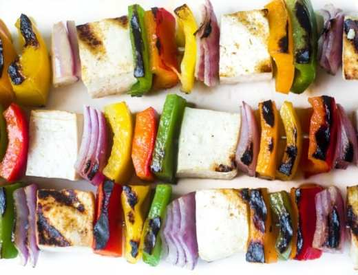 Healthy and low calorie Tofu Skewers are a delicious 30-minute meal