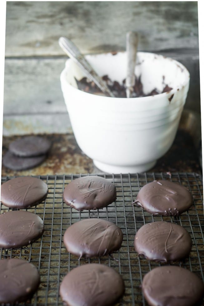 Easy and so satisfyuing --- do it yourself Gluten Free Thin Mint Cookies