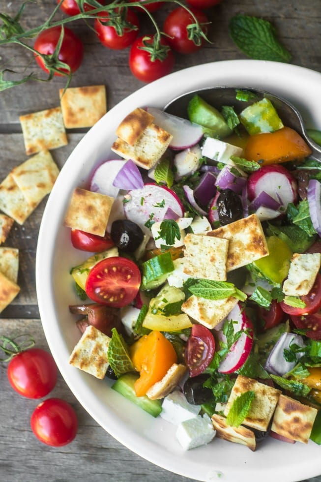 Fatoush Salad is a wonderfully fresh vibrant dish ~ 20 Healthy Recipes You Need To Get Your Glow Back!