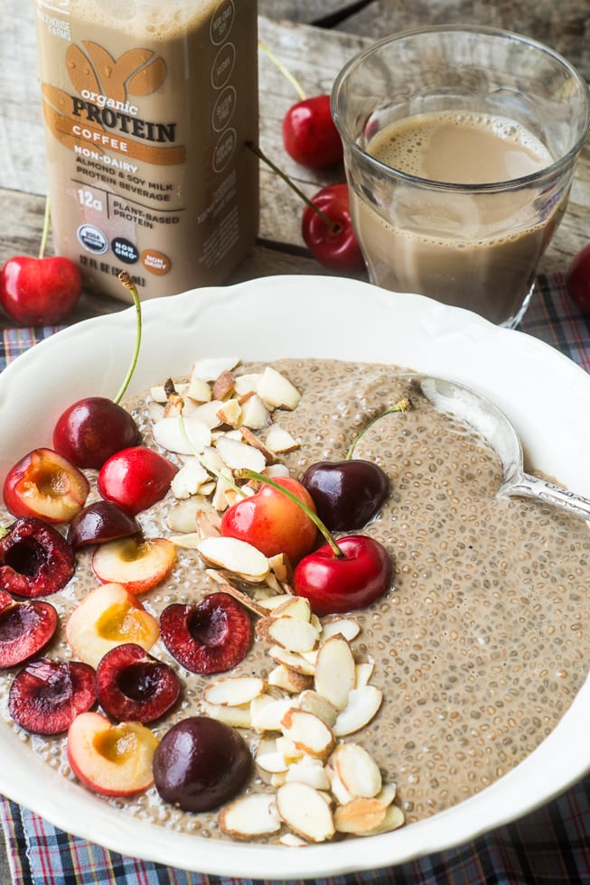 Coffee Chia Vegan Breakfast Bowl | theviewfromgreatisland.com