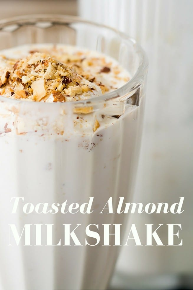 Toasted Almond Milkshake takes a page from the classic Good Humor Toasted Almond ice cream bar --- almond lovers are going to flip! | theviewfromgreatisland.com