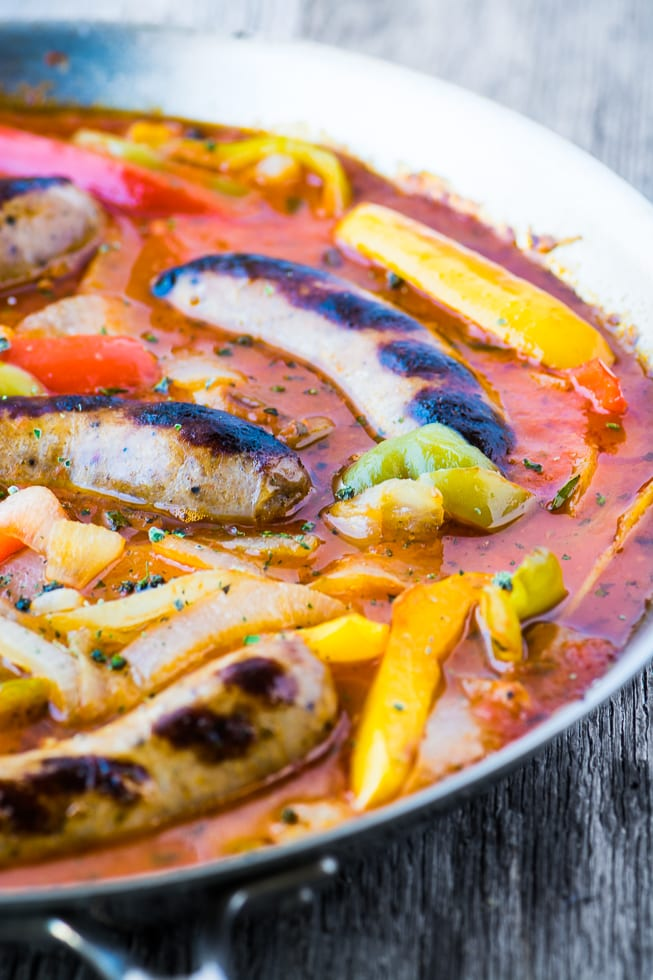Easy Sausage and Peppers Recipe is so good, don't be surprised if there's a stampede in your house at dinner time! ~ theviewfromgreatisland.com