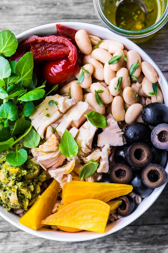 Healthy, low calorie, and protein rich Albacore Buddha Bowl ~ theviewfromgreatisland.com