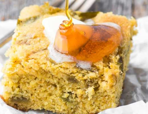 Hatch Green Chile Cornbread ~ theviewfromgreatisland.com