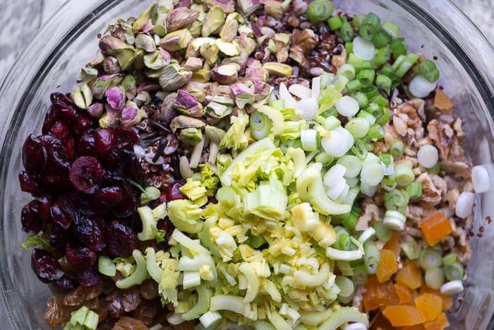 Ingredients for Vegan Ancient Grain Salad ~ theviewfromgreatisland.com