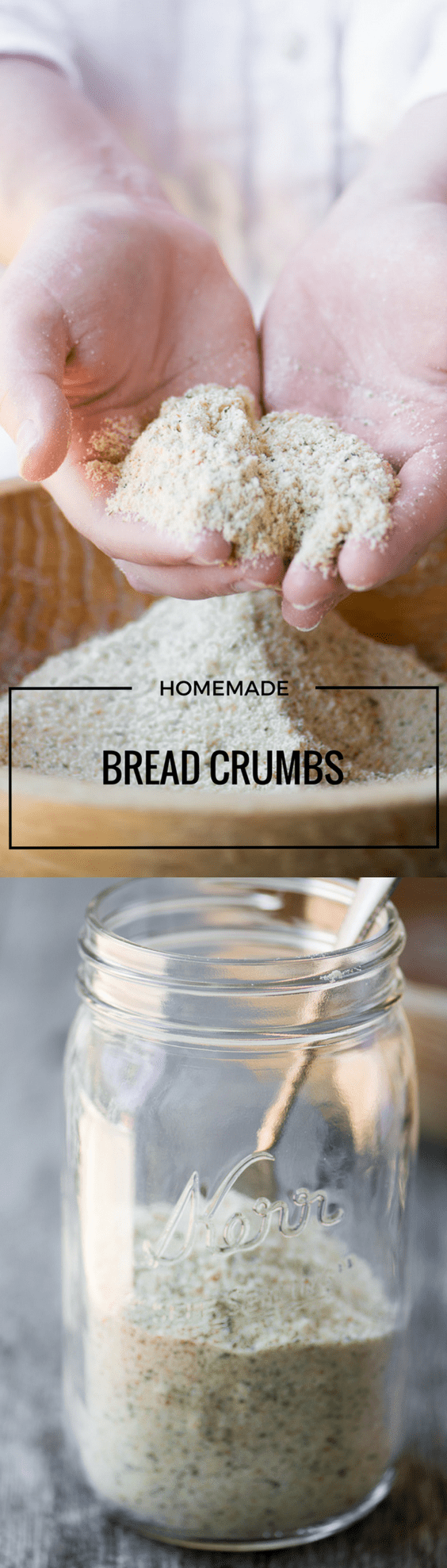 How to Make Homemade Bread Crumbs quickly and easily from any type of bread ~ fresh or dry, seasoned or unseasoned, whole grain, gluten free, even from crackers.  #diy #breadcrumbs #pantry #bread #crackers #matzo @glutenfreebreadcrumbs #herbedbreadcrumbs #freshbreadcrumbs #panko