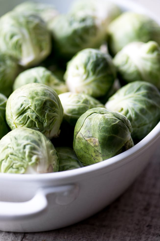 Brussels sprouts for Cheesy Creamed Brussels Sprouts ~ theviewfromgreatisland.com