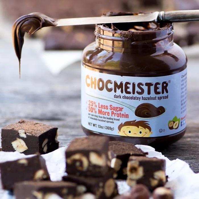 Chocmeister Dark Chocolate Hazelnut Spread for making Dark Chocolate Hazelnut Fudge ~ theviewfromgreatisland.com