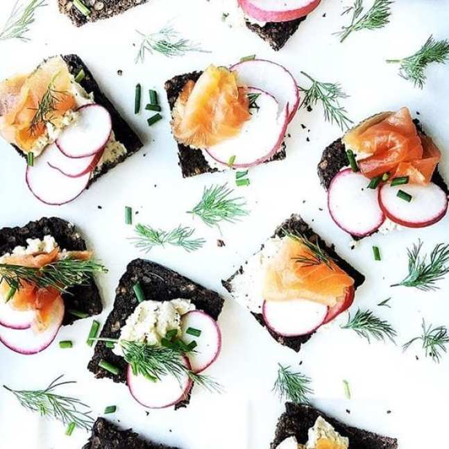 Smoked Salmon Boursin Appetizers from Diala's Kitchen