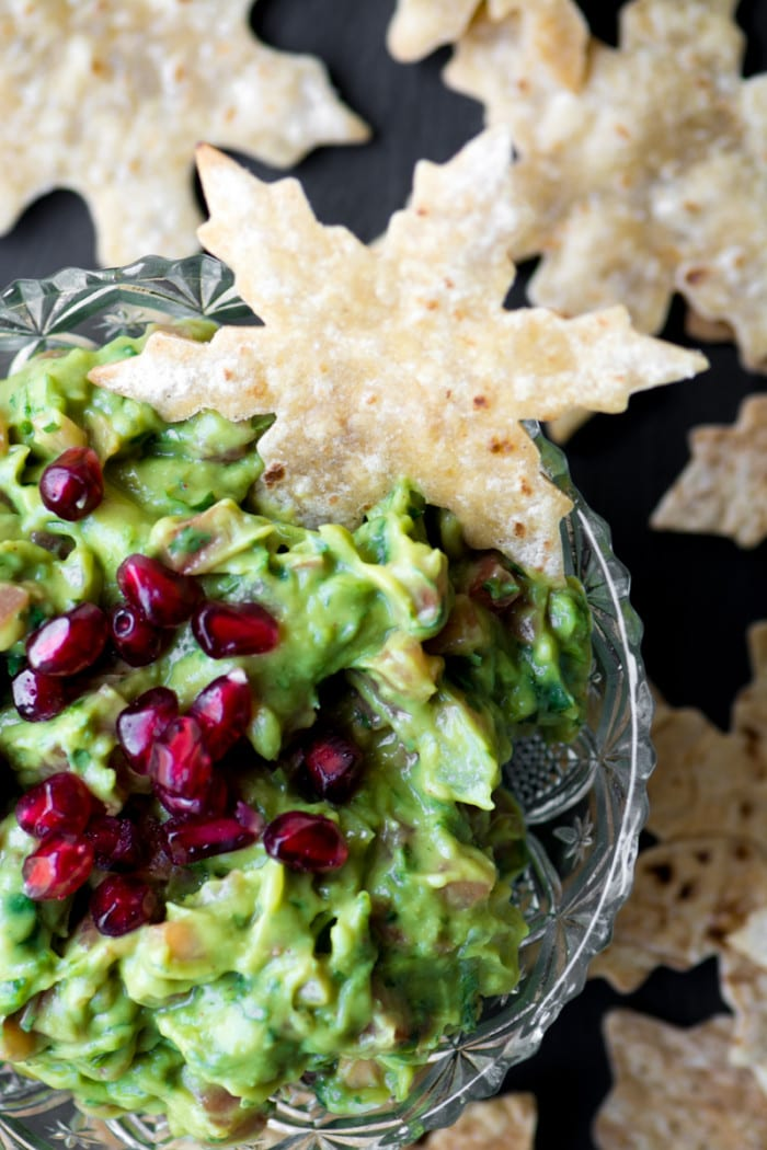 Easy baked Snowflake Pita Chips are a fun way to add some whimsy to the appetizer table! ~ theviewfromgreatisland.com
