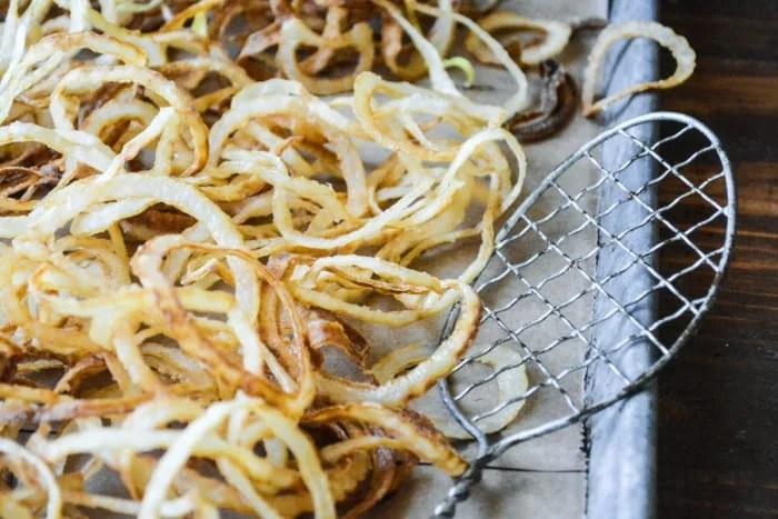 Homemade Onion Strings ~ theviewfromgreatisland.com