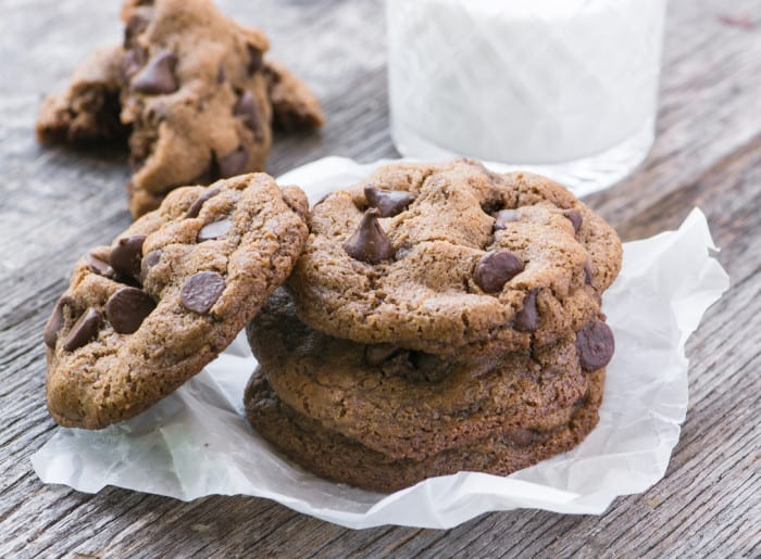 Flourless Pecan Chocolate Chip Cookies