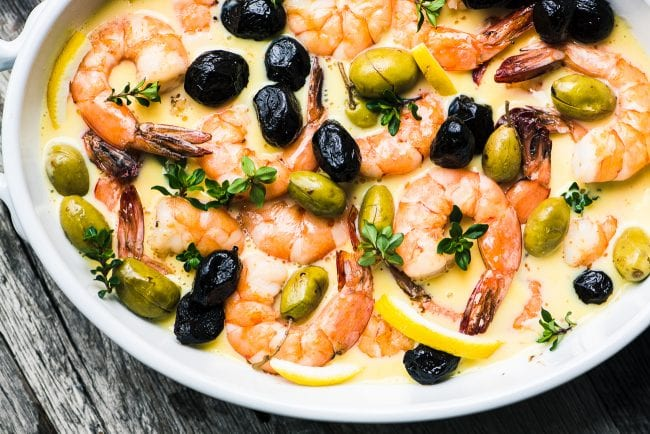 Shrimp in Lemon Sauce with Olives is a quick and healthy 30-minute meal ~ theviewfromgreatisland.com