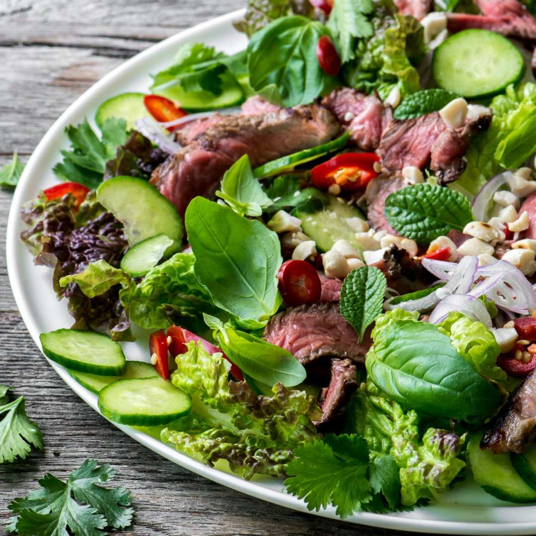 Thai Beef Salad is a healthy main course salad full of fabulous flavor and protein!