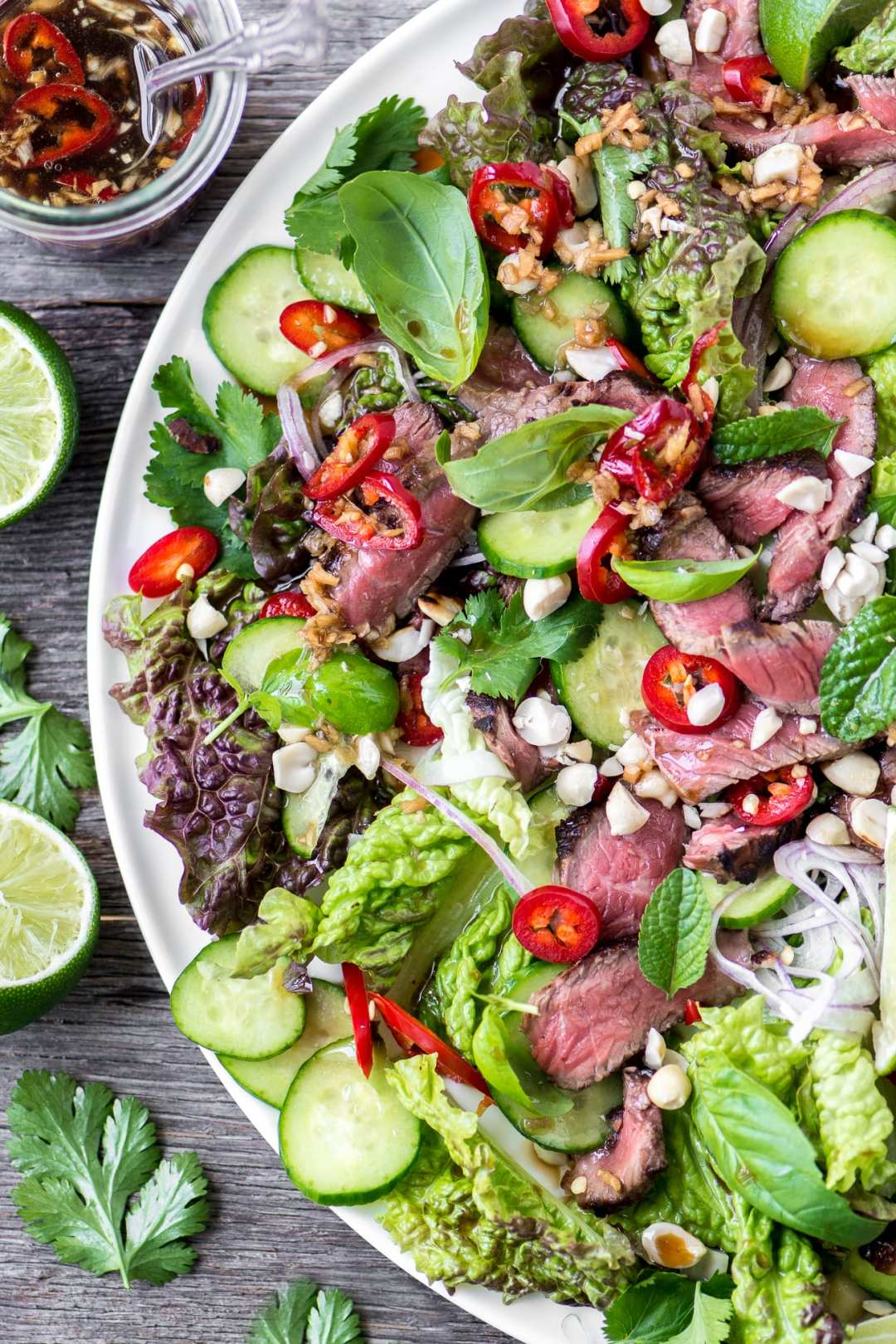 Thai Beef Salad is a healthy main course salad that just explodes with flavor!