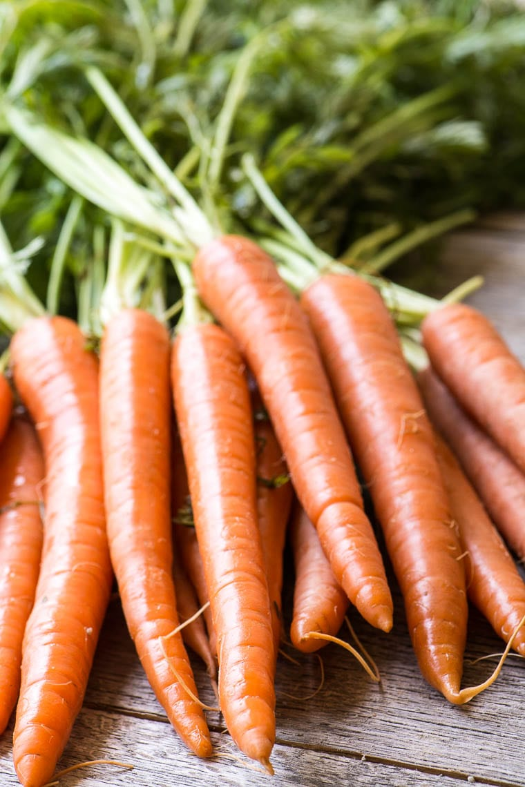 Carrots for Carrot Soup with Ginger and Lime