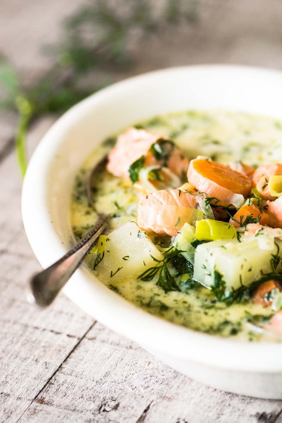 Finnish Salmon Soup – Lohikeitto