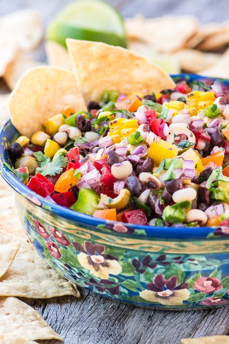 Cowboy Caviar is a healthy and satisfying salsa, dip, or side salad ~ everybody is going to beg you for the recipe!