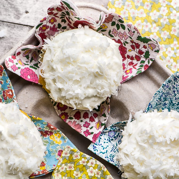 Ina Garten's Coconut Cupcakes ~ these fluffy cupcakes are packed with coconut, and perfect for any celebration!