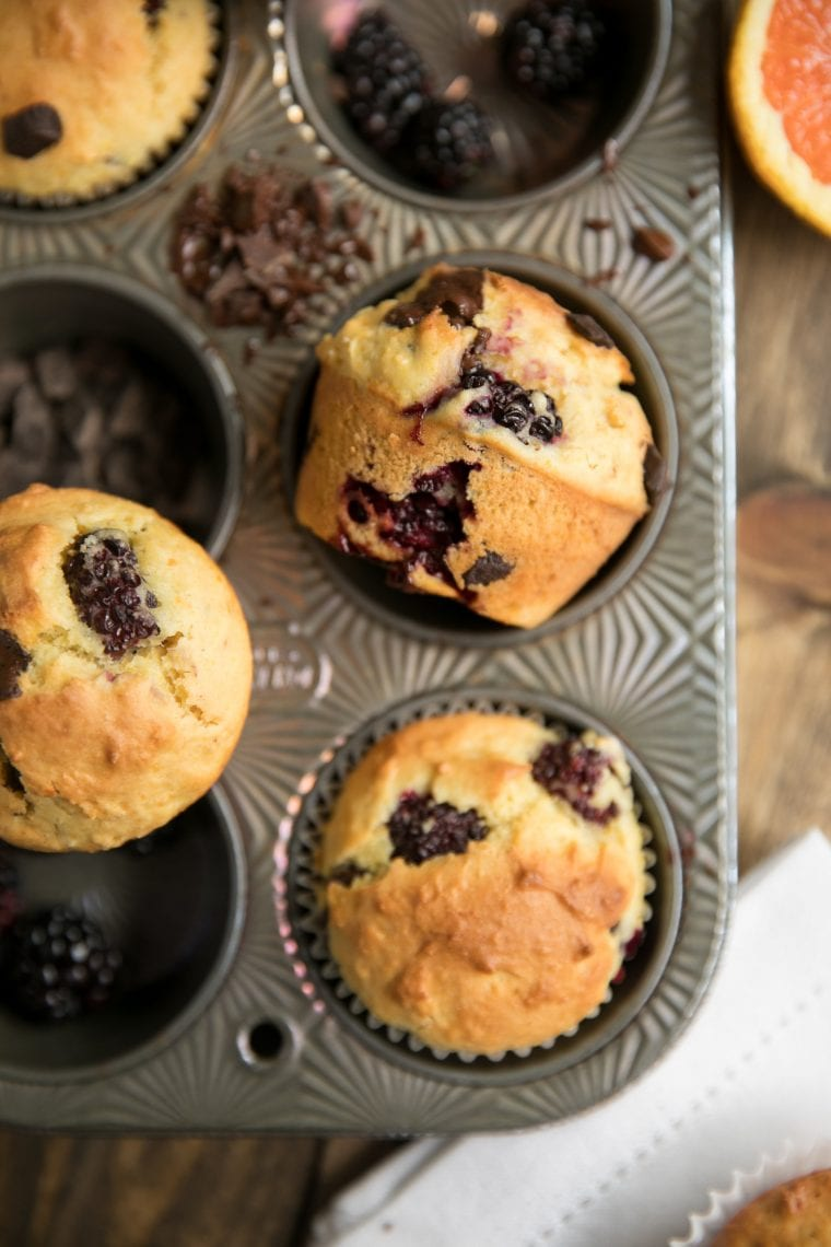 What to Eat Now: Blackberries ~ blackberry and orange muffins