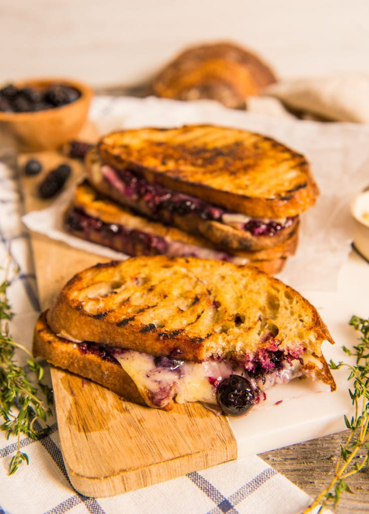 What to Eat Now: Blackberries ~ blackberry grilled cheese