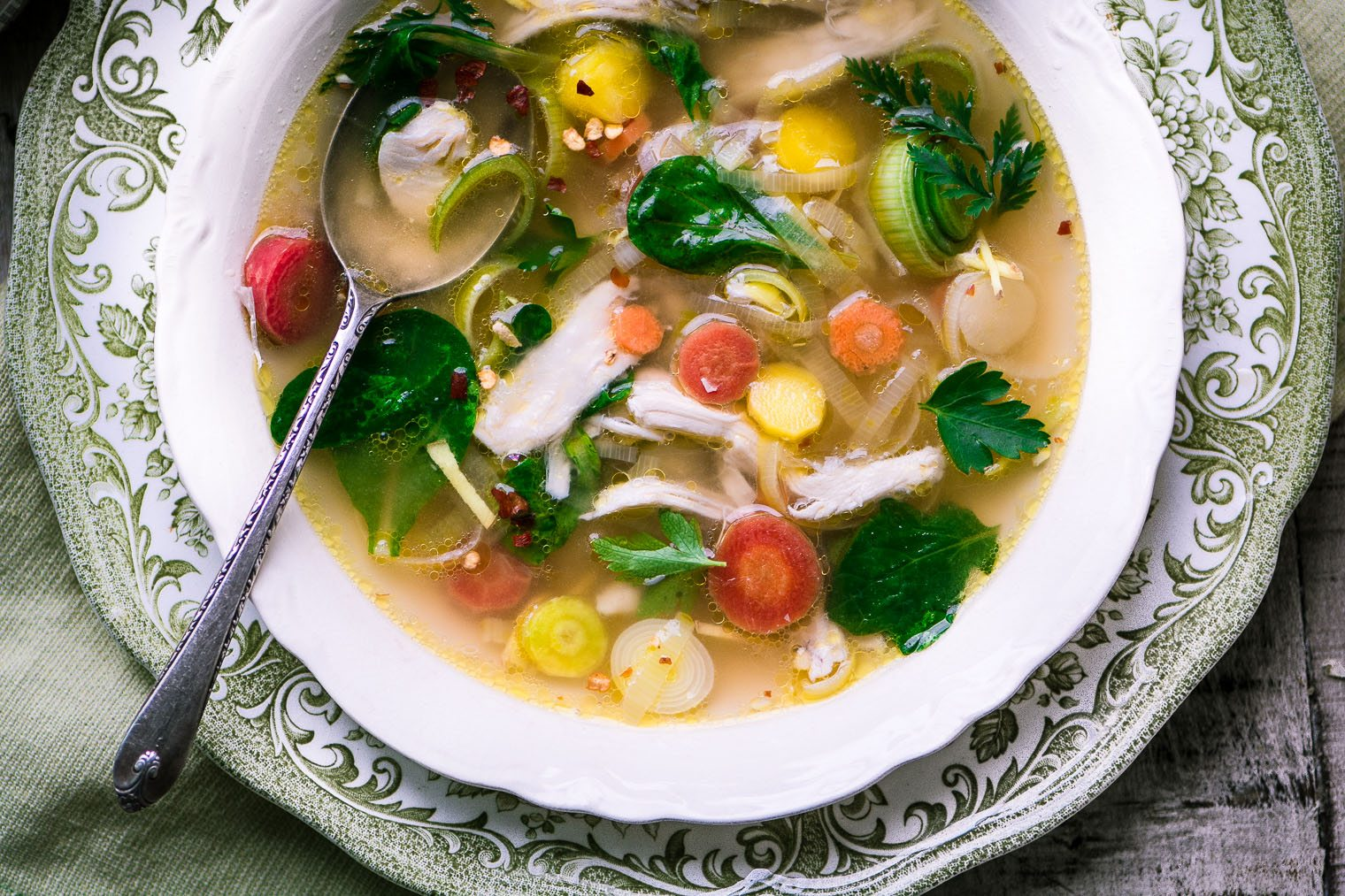Not Your Grandma's Chicken Soup