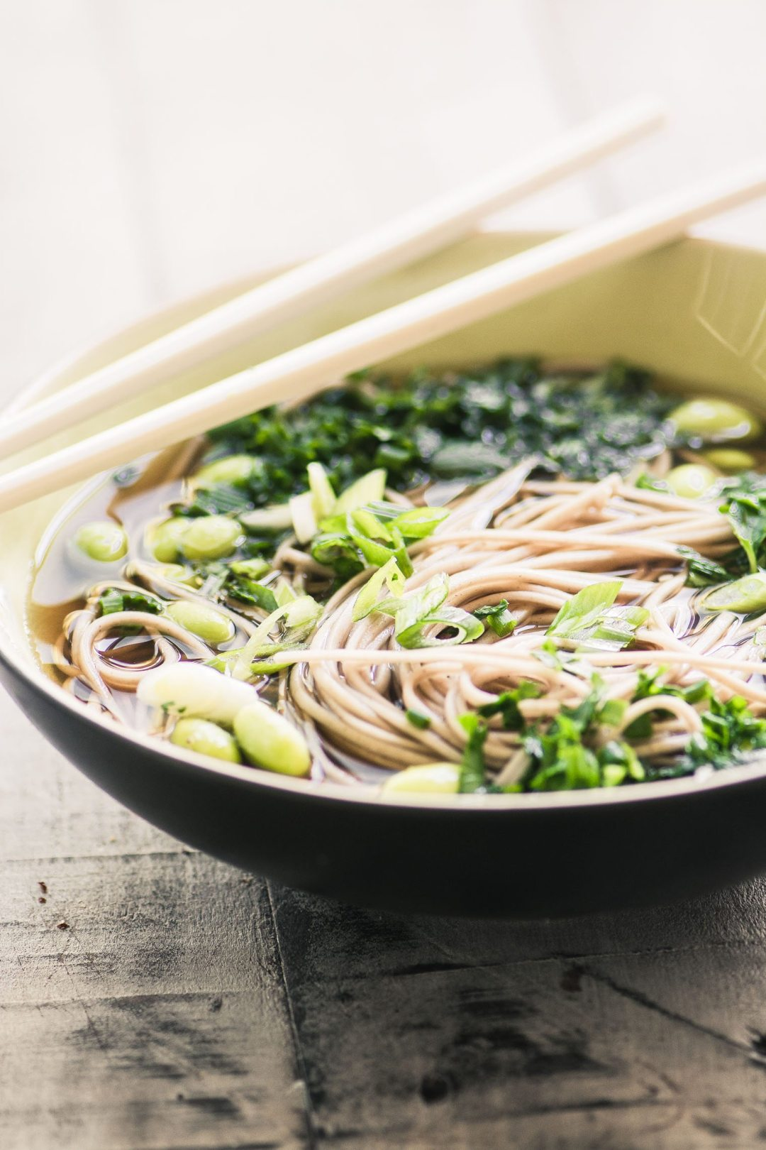 Quick and healthy Bone Broth Noodle Bowl with Herbs image