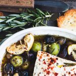 Baked Feta Cheese with Olives and Lemon