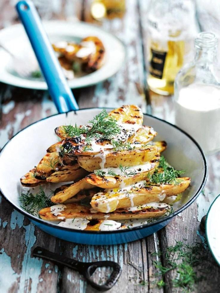 char grilled potato salad