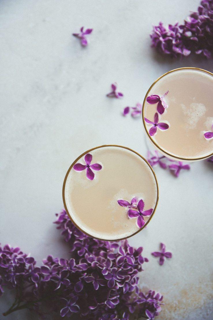 Lilac 75 Cocktails