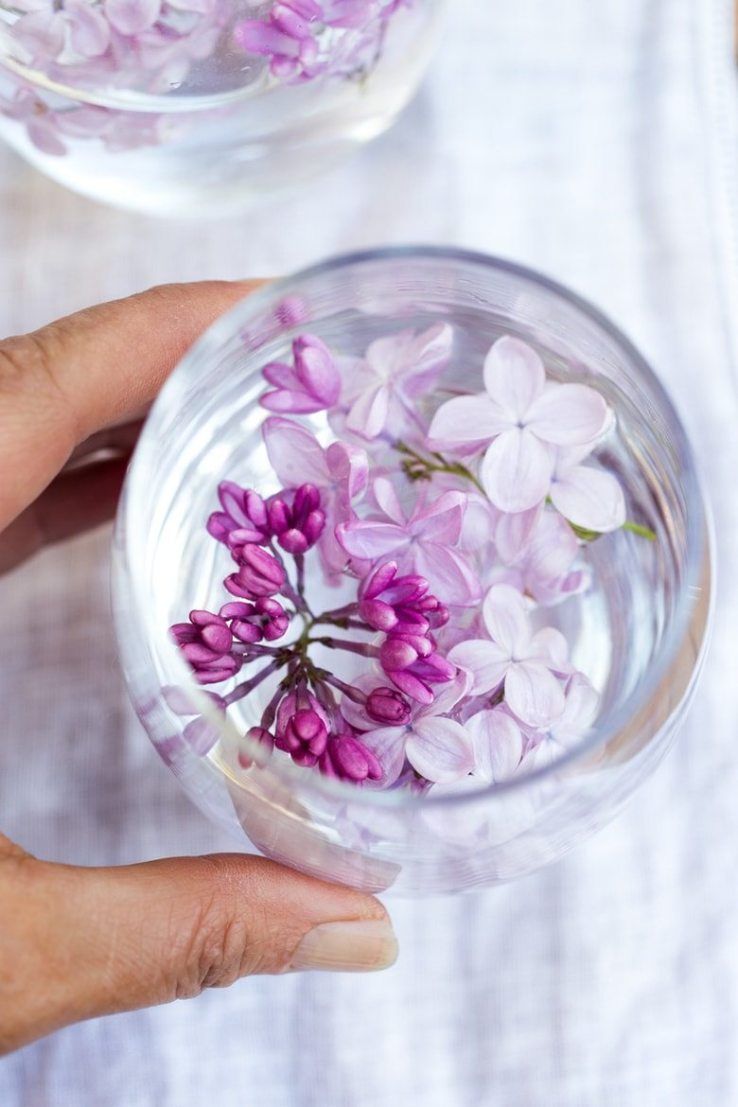 Lilac infused water