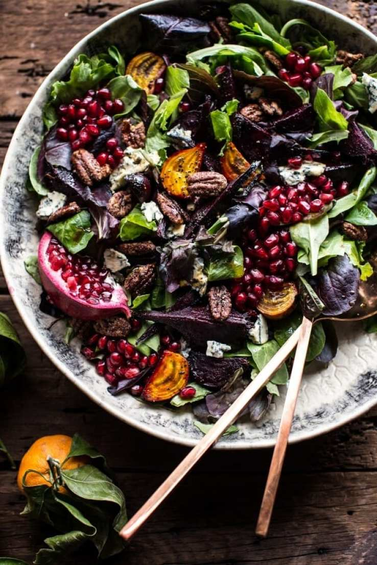 Winter Beet and Pomegranate Salad