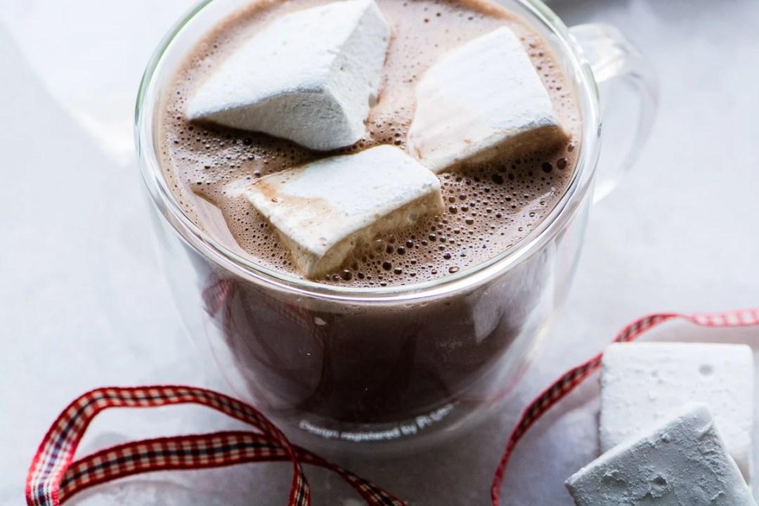 Bourbon Marshmallows in hot cocoa
